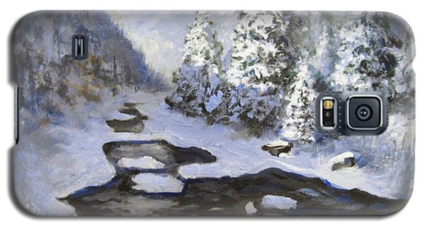 Galaxy S5 Case featuring the painting New Snow by Carol Hart