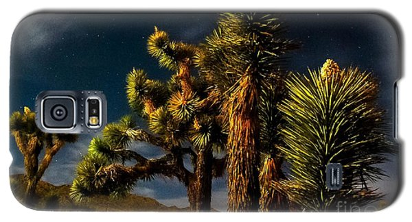 Galaxy S5 Case featuring the photograph Night Desert by Angela J Wright