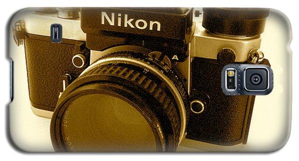 Nikon F2 Classic Camera Galaxy S5 Case by John Colley