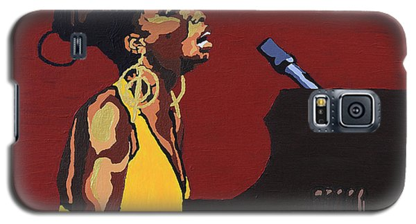 Galaxy S5 Case featuring the painting Nina Simone by Rachel Natalie Rawlins