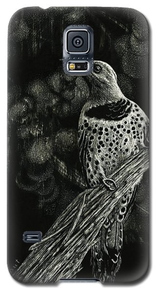 Galaxy S5 Case featuring the drawing Northern Flicker by Sandra LaFaut