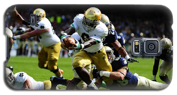 Notre Dame Versus Navy Galaxy S5 Case by Mountain Dreams