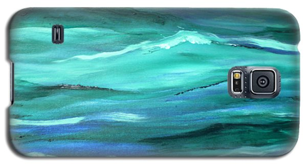 Ocean Swell Abstract Painting By V.kelly Galaxy S5 Case