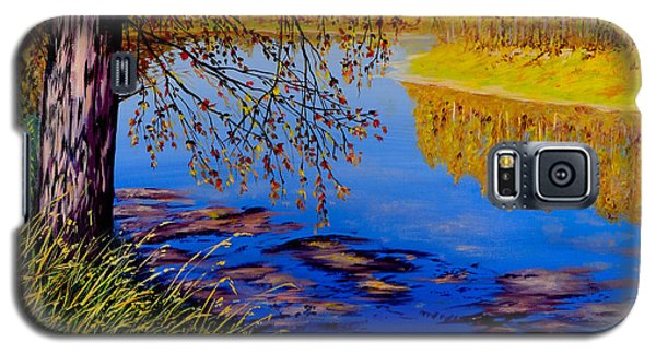 Galaxy S5 Case featuring the painting October Afternoon by Sher Nasser