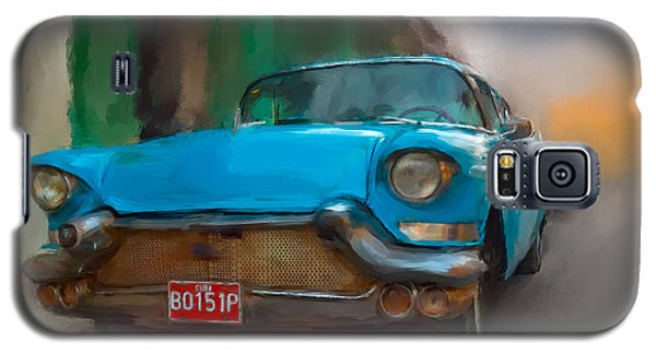 Old Blue Car Galaxy S5 Case