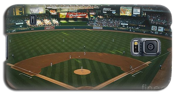 Galaxy S5 Case featuring the photograph Old Busch Field by Kelly Awad