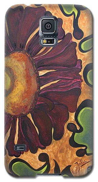 Galaxy S5 Case featuring the painting Old Fashion Flower by Jolanta Anna Karolska