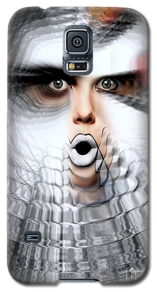 Galaxy S5 Case featuring the painting OMG by Rafael Salazar