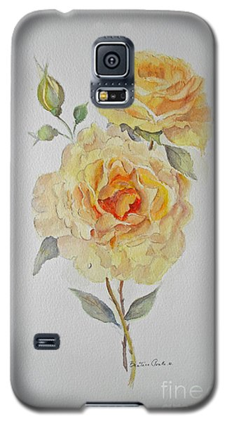 Galaxy S5 Case featuring the painting One Rose Or Two by Beatrice Cloake