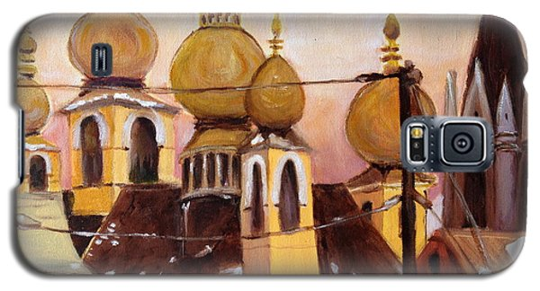 Galaxy S5 Case featuring the painting Onion Domes by Julie Todd-Cundiff