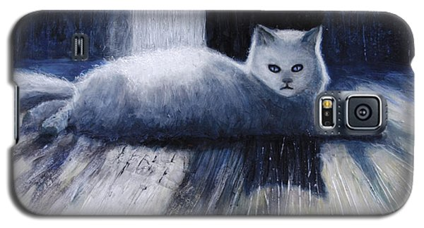 Galaxy S5 Case featuring the painting Opie by Ron Richard Baviello