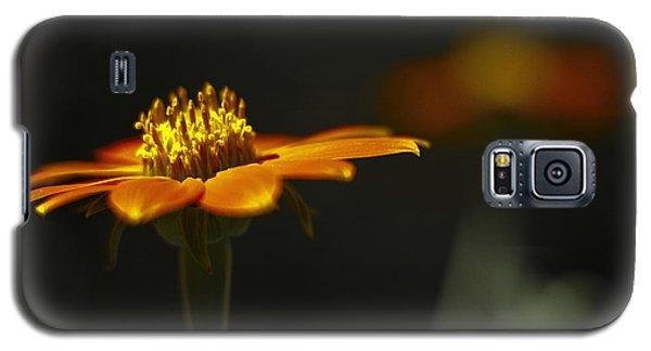 Orange Flower Galaxy S5 Case