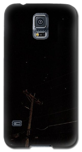 Galaxy S5 Case featuring the photograph Orion And Telephone Pole by Steven Richman