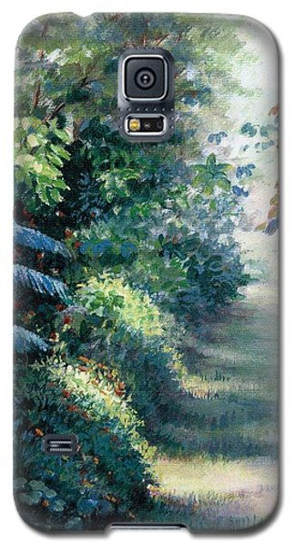 Galaxy S5 Case featuring the painting Our Garden by Laila Awad Jamaleldin