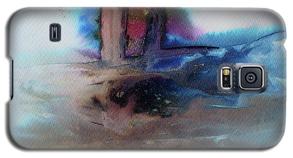 Galaxy S5 Case featuring the painting Out Of The Mist by Mary Sullivan