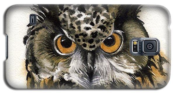 Owl Watercolor Galaxy S5 Case
