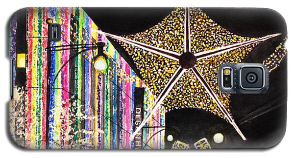 Galaxy S5 Case featuring the painting Oxford Street London 2011 by Carol Flagg
