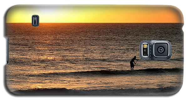Paddle Board Surfer At Sunset Galaxy S5 Case