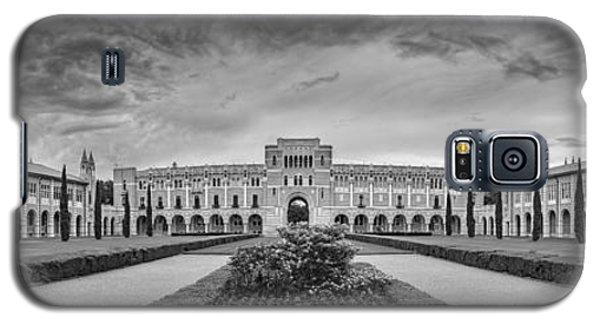 Panorama Of Rice University Academic Quad Black And White - Houston Texas Galaxy S5 Case