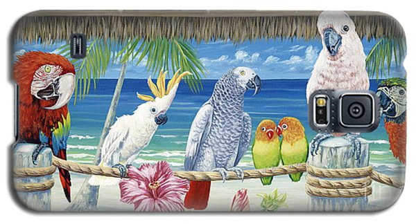 Parrot Galaxy S5 Case - Parrots In Paradise by Danielle  Perry