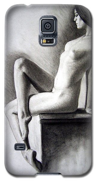 Galaxy S5 Case featuring the drawing Pedestal  by Joseph Ogle