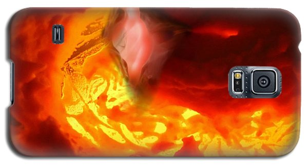 Galaxy S5 Case featuring the mixed media Pele Goddess Of Fire And Volcanoes by Steed Edwards