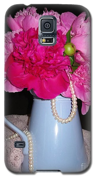 Peonies Pearls And Lace Galaxy S5 Case