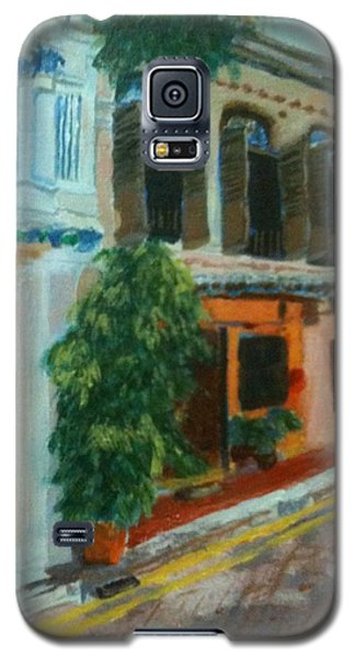 Galaxy S5 Case featuring the painting Peranakan House by Belinda Low