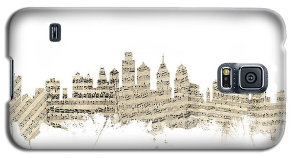 Philadelphia Pennsylvania Skyline Sheet Music Cityscape Galaxy S5 Case by Michael Tompsett