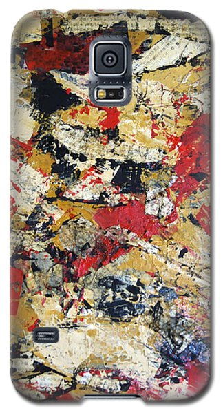 Galaxy S5 Case featuring the painting Pieces by Debra Crank