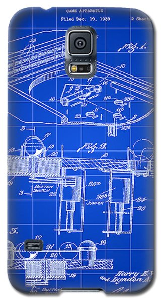 Pinball Machine Patent 1939 - Blue Galaxy S5 Case by Stephen Younts
