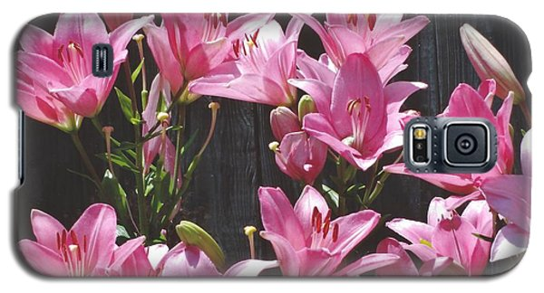 Galaxy S5 Case featuring the photograph Pink Asiatic Lilies by Rod Ismay