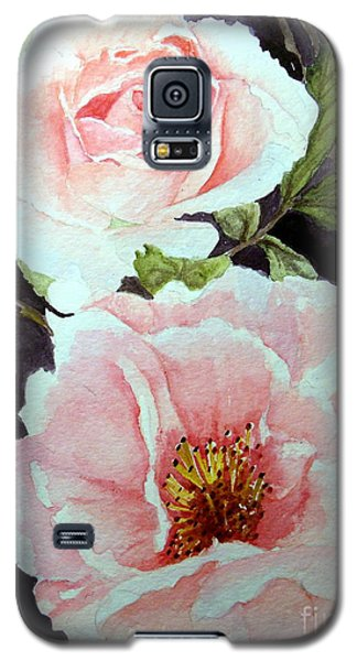 Pink Roses Galaxy S5 Case by Carol Grimes