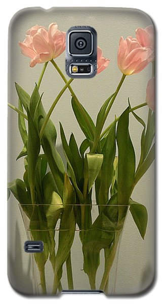 Pink Tulips Galaxy S5 Case by Karen Nicholson