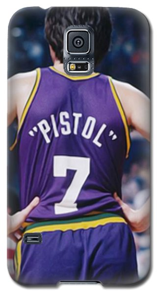 Pistol Pete Maravich Galaxy S5 Case by Paint Splat