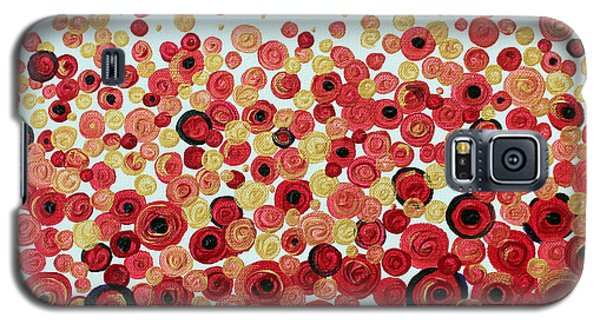 Galaxy S5 Case featuring the painting Poppies by Stacey Zimmerman