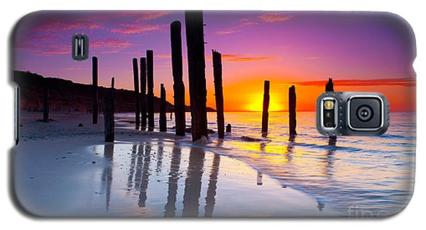 Port Willunga Sunset Galaxy S5 Case by Bill  Robinson