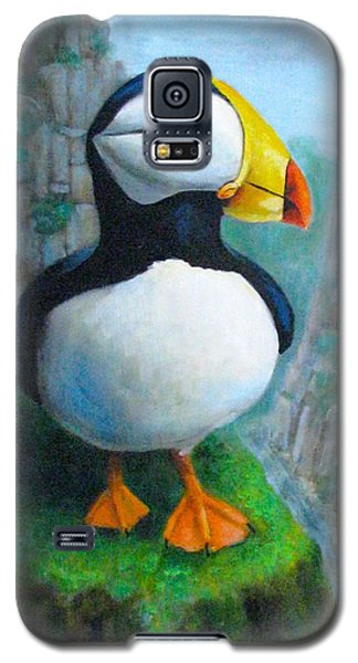 Portrait Of A Puffin Galaxy S5 Case