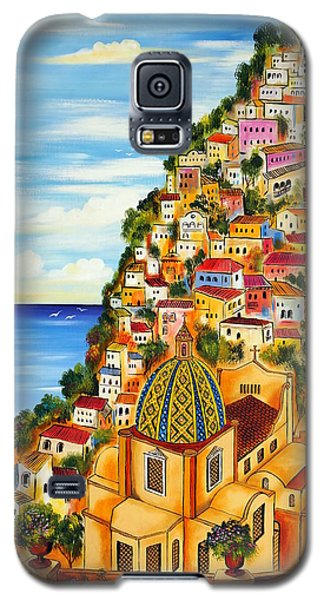 Galaxy S5 Case featuring the painting Positano by Roberto Gagliardi