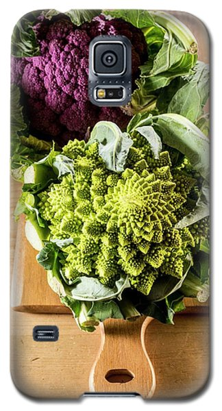 Purple And Romanesque Cauliflowers Galaxy S5 Case by Aberration Films Ltd