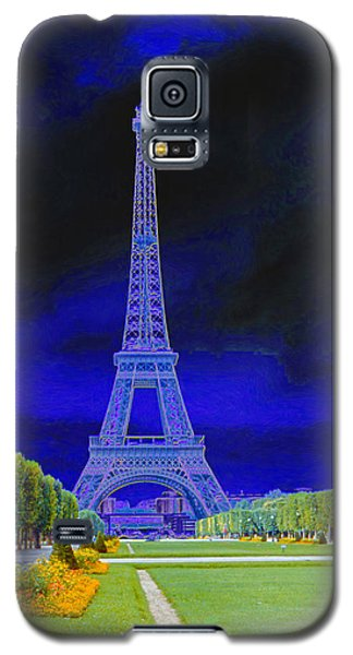 Purple Eiffel Galaxy S5 Case