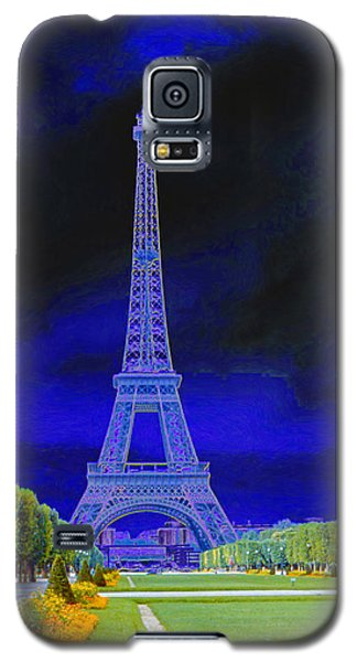 Purple Eiffel Galaxy S5 Case