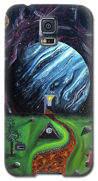 Galaxy S5 Case featuring the painting Quantum Dementia by Ryan Demaree