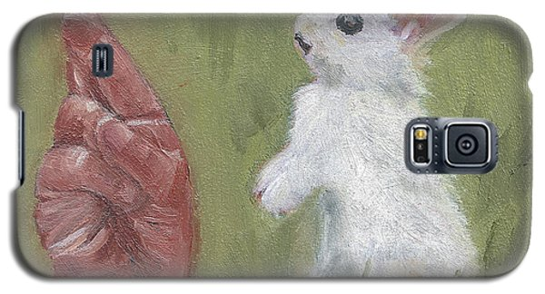 Galaxy S5 Case featuring the painting R Is For Rabbit by Jessmyne Stephenson