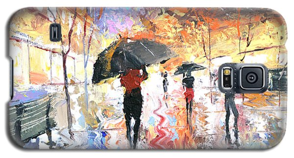 Galaxy S5 Case featuring the painting Rain by Dmitry Spiros