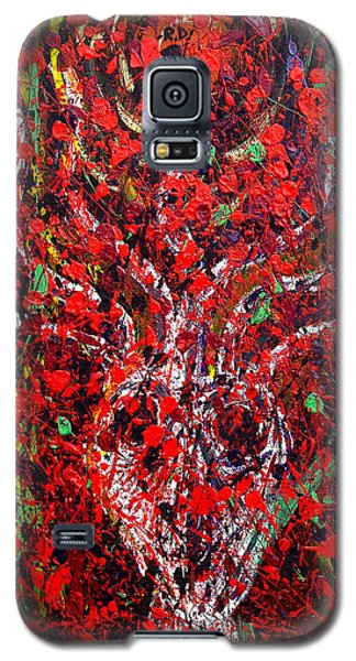 Galaxy S5 Case featuring the painting Recurring Face by Ryan Demaree