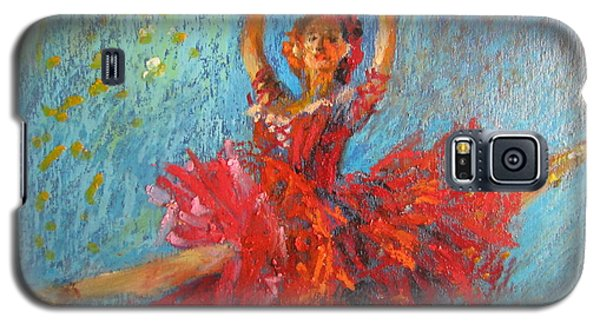 Red Fan Galaxy S5 Case by Jieming Wang