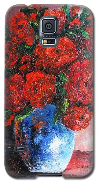 Galaxy S5 Case featuring the painting Red Scent by Vesna Martinjak