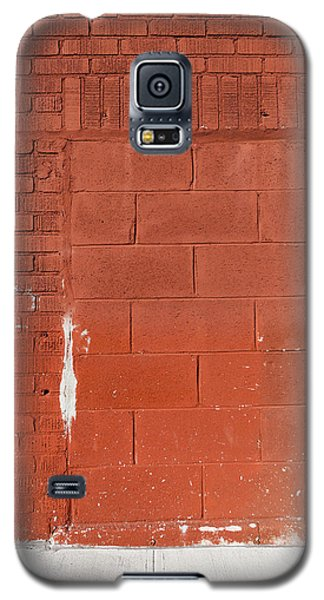 Red Wall With Immured Door Galaxy S5 Case