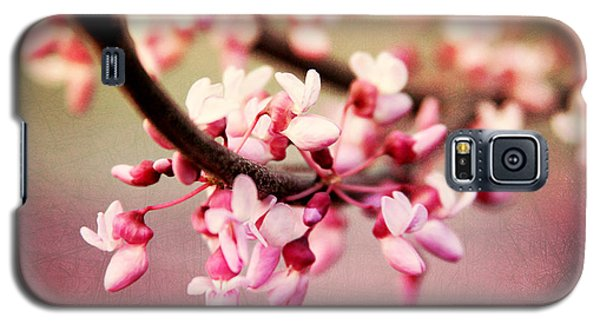 Galaxy S5 Case featuring the photograph Redbud Blossoms by Trina  Ansel